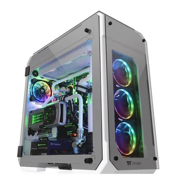 View 71 Water Tempered Glass PC Tower Chassis, White