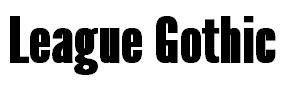 Font Feature: League Gothic