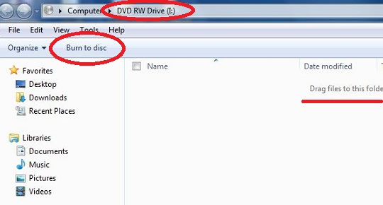 How to write CD or DVD without software?