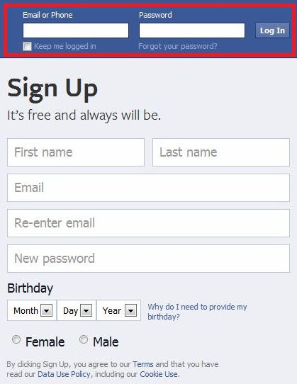 Facebook mobile verification