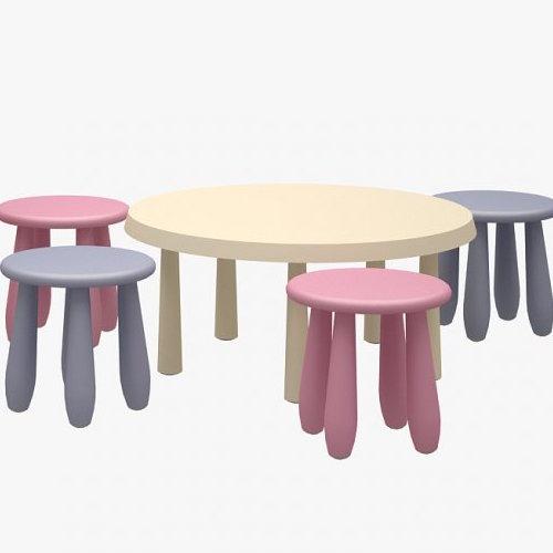 ikea mammut table stools