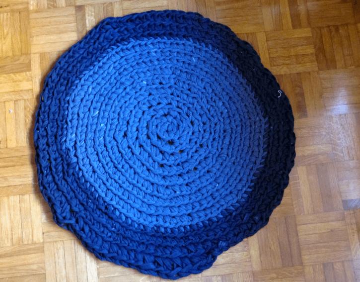 tshirt strips rug