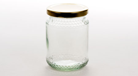 honeycomb glass jar