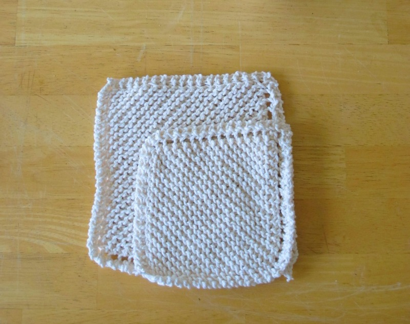 hand knitted washcloths in 4 ply cotton made by sky turtle