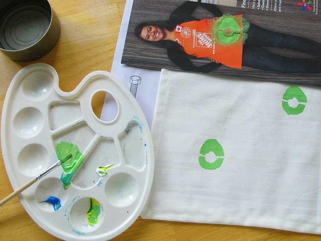 how to paint your own textile napkins part 1