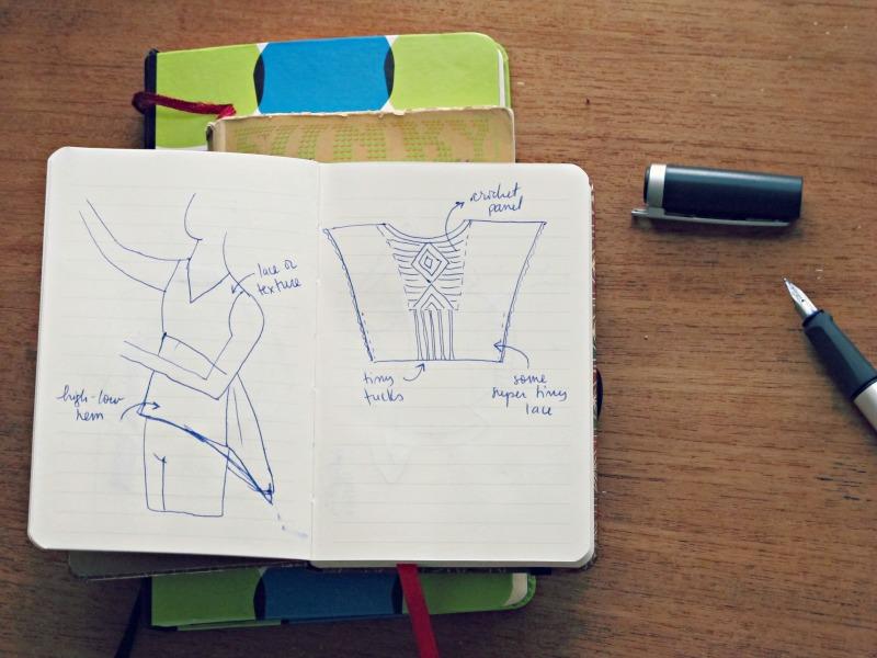 sewing sketchbook two blouses