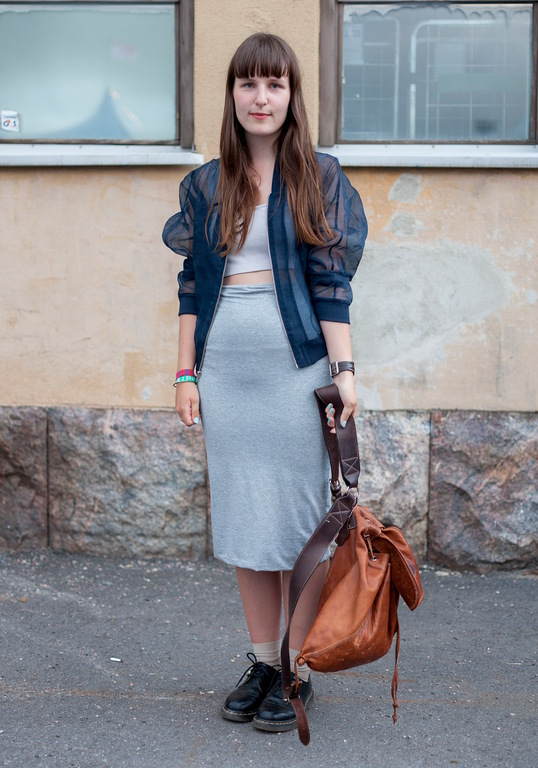 grey knit hight waisted pencil skirt