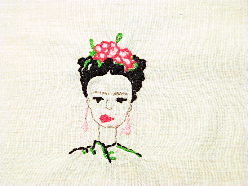 frida embroidery pattern free