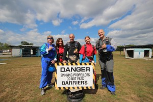 Laurie, me, Alex, Tiff and Rob before our jump!