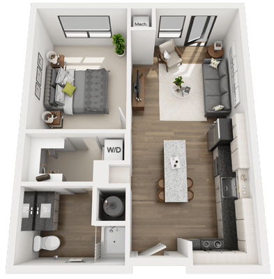A1 1 bedroom 1 bathroom skyvue apartments for 1 bedroom 1 bathroom