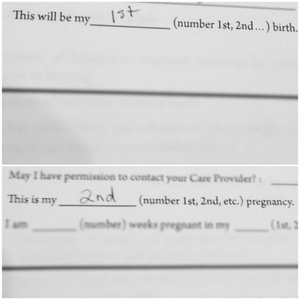 2nd pregnancy 1st birth