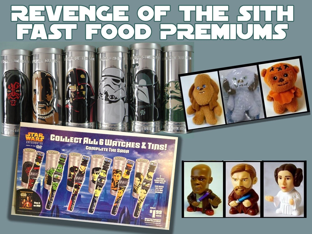 Revenge Of The Sith Anniversary Fast Food Premiums
