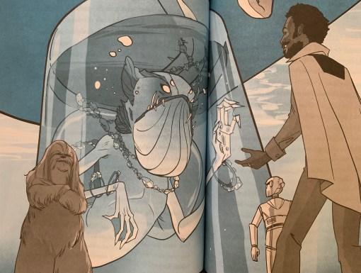 Lando confronts Ne'eda.