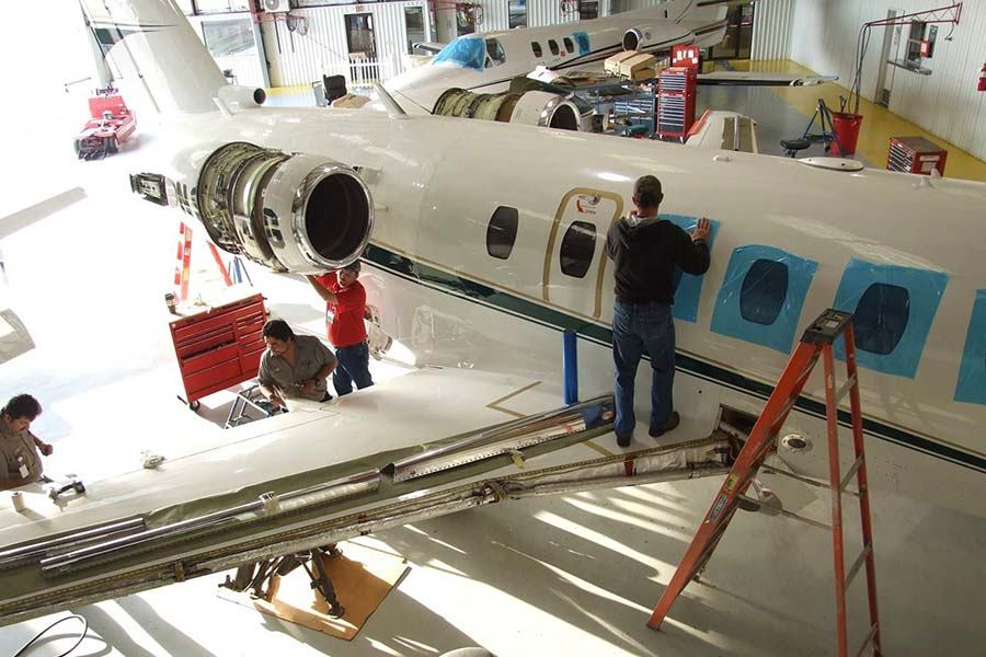 Inspecting Cessna Citation Jet