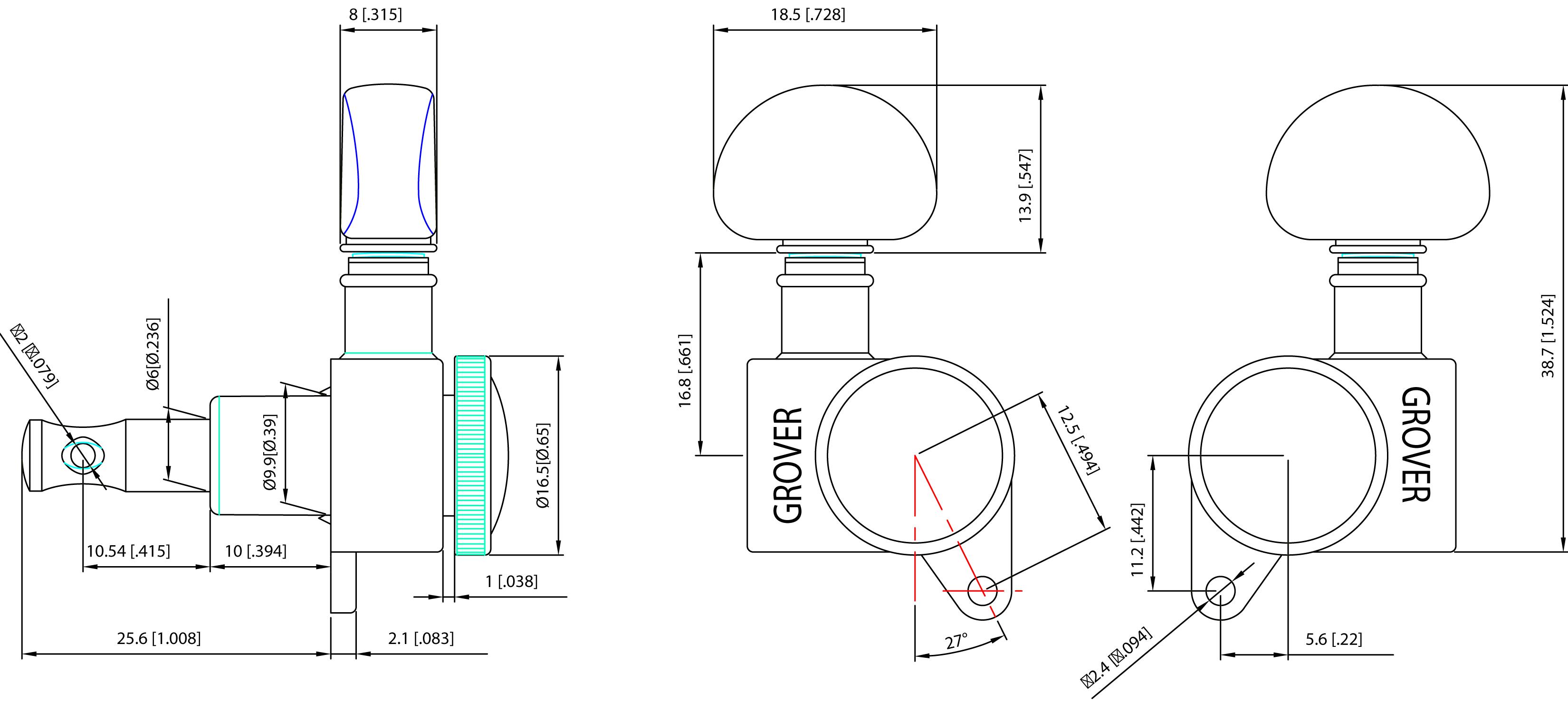 Genuine Grover 505g6 Mini Roto Grip Locking Rotomatic 6