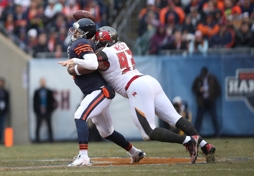 Image result for jay cutler sack buccaneers