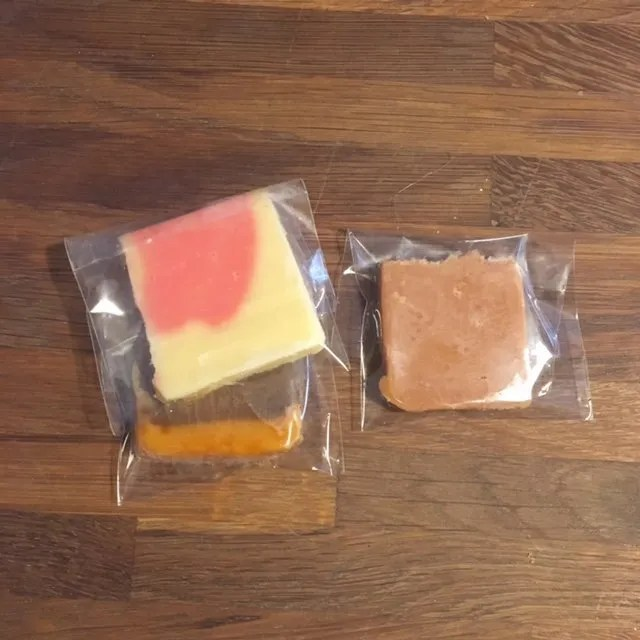 Slab Wedding Fudge Favour - individually wrapped