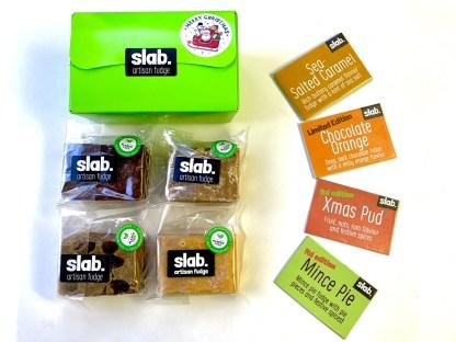 Slab Artisan Fudge Xmas Gift Box - Dairy Rectangle