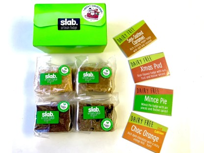 Slab Artisan Fudge Xmas Gift Box - Vegan Rectangle