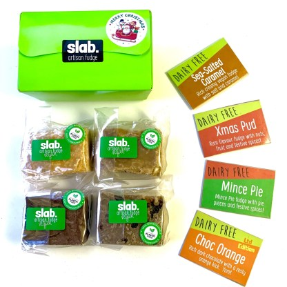 Slab Artisan Fudge Xmas Gift Box - Vegan Square
