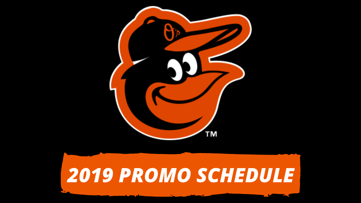image about Baltimore Orioles Printable Schedule called Most straightforward Discounts Towards 2019 Baltimore Orioles Advertising Program