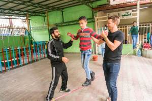 Crossing Lines Teaching Refugees to Slackline in Lebanon