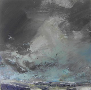 New Years Day Priests Cove Janette Kerr oil on canvas 40.5 x 40.5cm £1,500