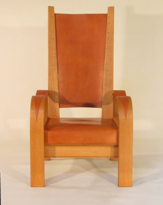 Deco Reading Chair in Oak