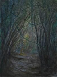 John Hubbard Sunken Lane 3 oil on paper 2011