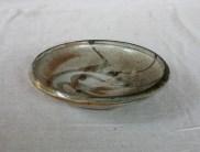 Svend Bayer 32. Dish with Bird, shino glaze, 6.5 x 25 cm SOLD