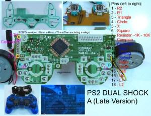 Carcasa mando ps2 (roja transparente) en PlayStation 2