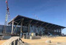 A brassói reptér épülő utasterminálja