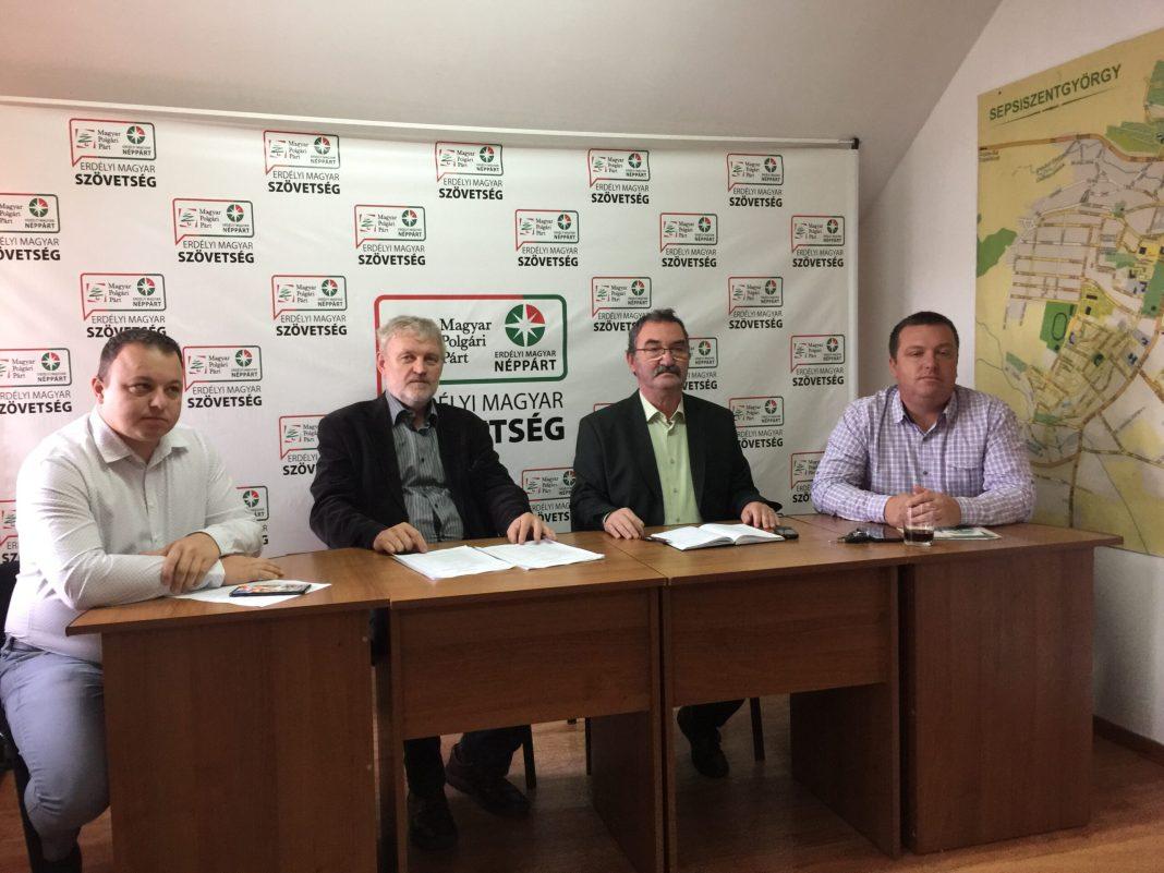 EMSZ háromszéki vezetői: Kolcza István, Pethő István, Bálint József, Csáki Attila