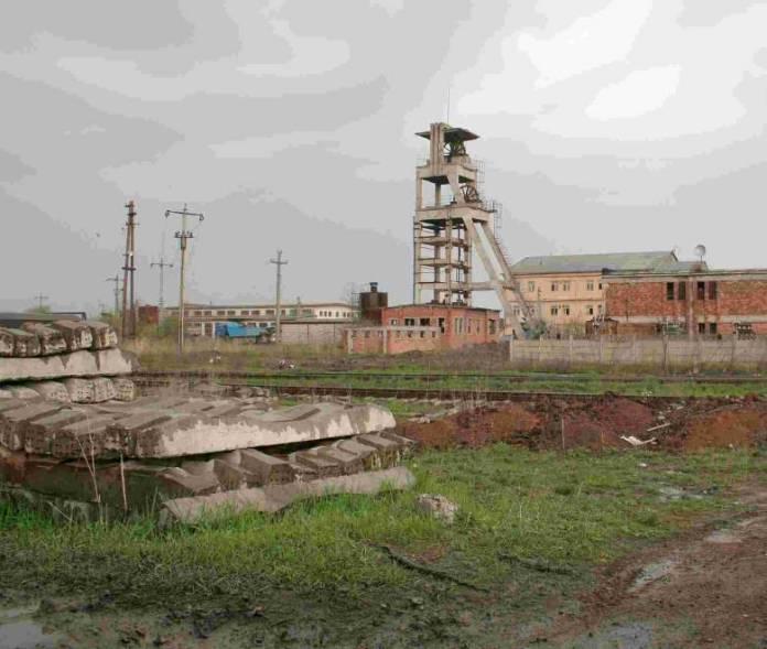 A baróti bánya épület maradványai