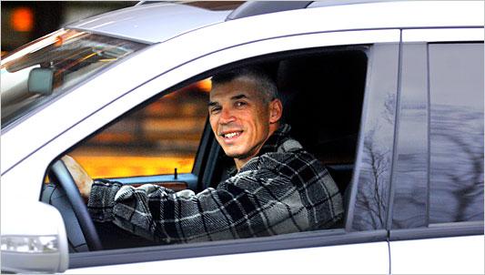 Joe Girardi in Car