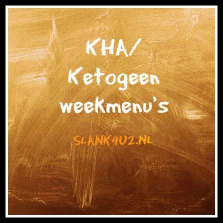 Weekmenu's Koolhydraatarm/Ketogeen