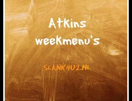 Atkins weekmenu's