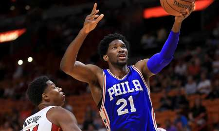 WATCH: Joel Embiid Has The Block Of The Year