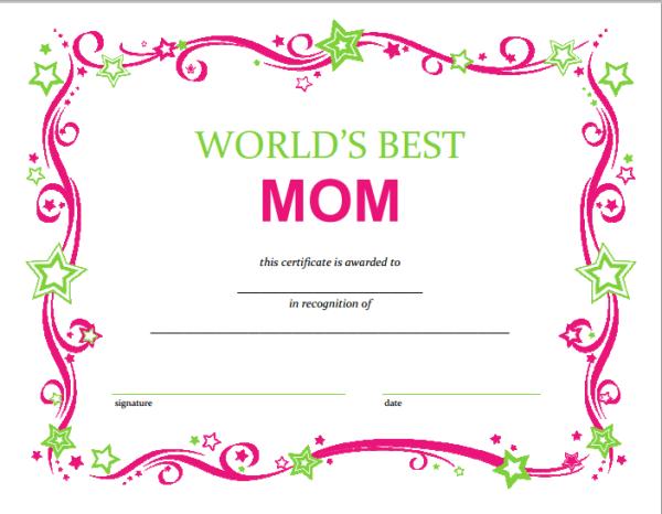 FREE Mothers Day Printable Certificate – Slap Dash Mom