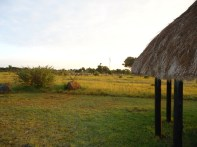 Our Huts and the view.