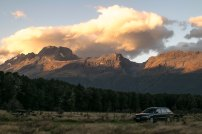 Camping at the foot of the Routeburn Track