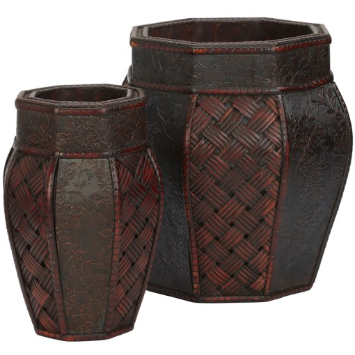 Nearly Natural 0517 Design and Weave Panel Decorative Planters