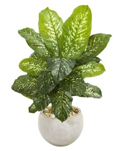 """Nearly Natural 9500 37"""" Dieffenbachia Artificial Plant in Bowl Planter (Real Touch)"""
