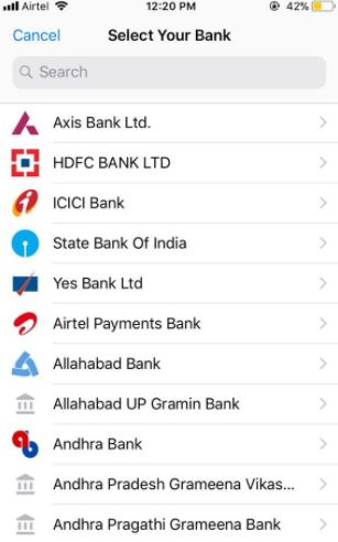 Drop Down List Of Banks On The WhatsApp Payments Feature?
