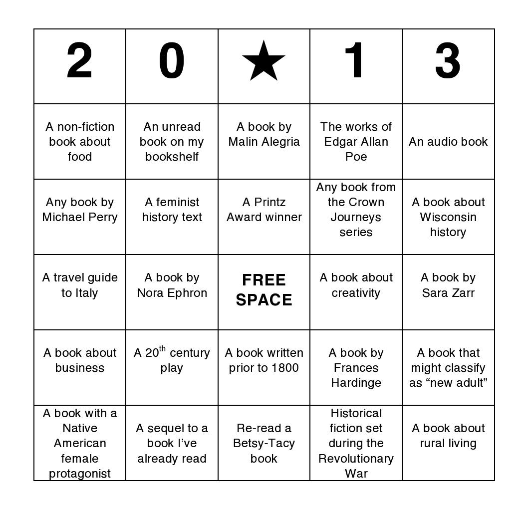 Diy Reading Bingo