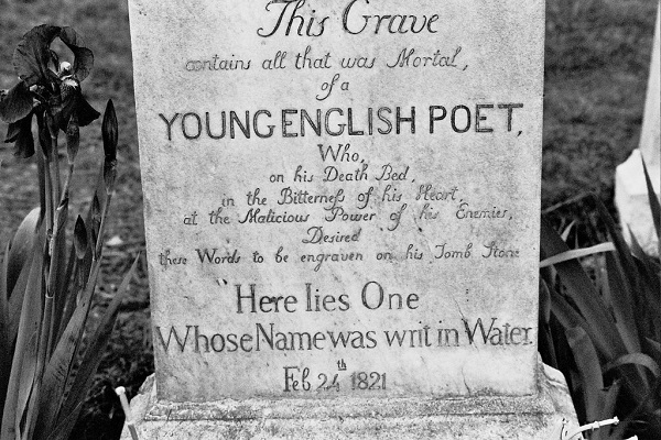 60789de8d3 19th century intellectuals believed a bad review gave John Keats  tuberculosis; they were so upset about this that they used his gravestone to  complain: