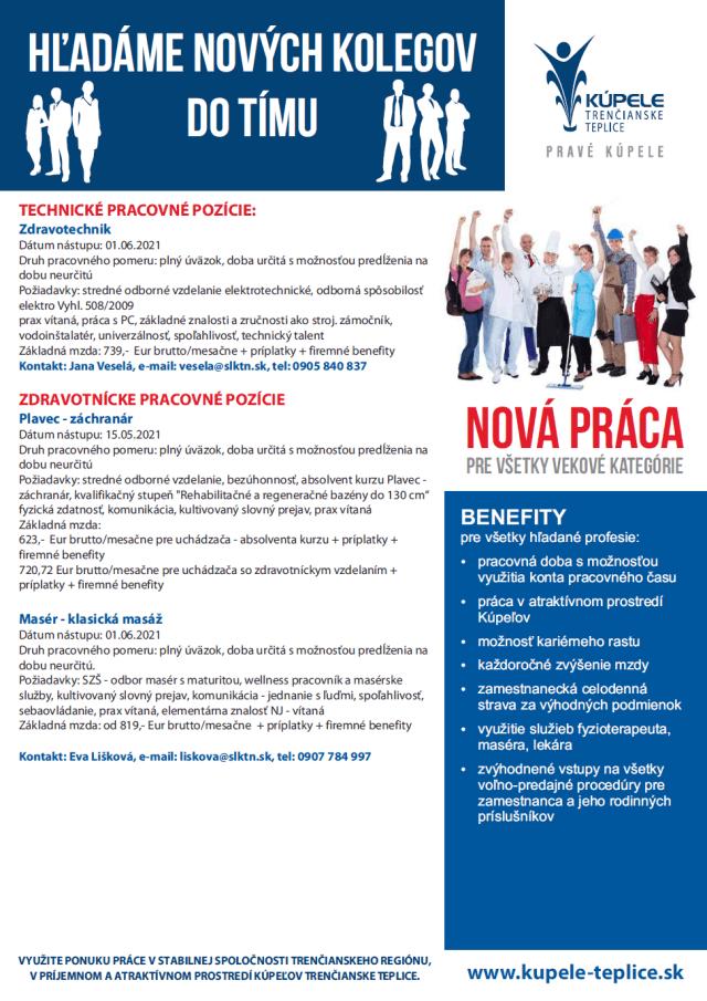 Kúpele Trenčianske Teplice - Hľadáme nových kolegov 2021 strana 2