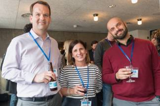 Michael Kritz (Acclaro), Annette Lawlor (L10N People), Tommaso Rossi (Expedia)