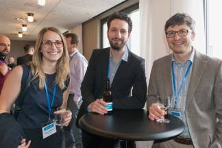 Margaux Delplanque (LanguageLine), Péter Lepahin (Hunnect), David Canek (Memsource) at SlatorCon London 2017