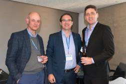 Bob Willans (XTM), Manuel Herranz (Pangeatic), Andrew Smart (Slator) at SlatorCon London 2017